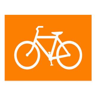 Bici blanca y anaranjada tarjetas postales