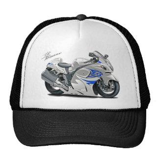 Bici Blanco-Azul de Hayabusa Gorros Bordados