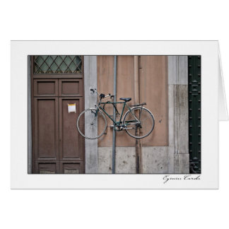 Bici bloqueada tarjeta de felicitación