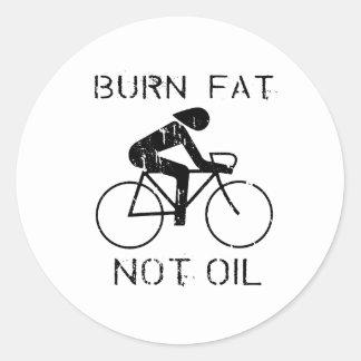 BICI: Camiseta del aceite de la grasa de la Pegatinas Redondas