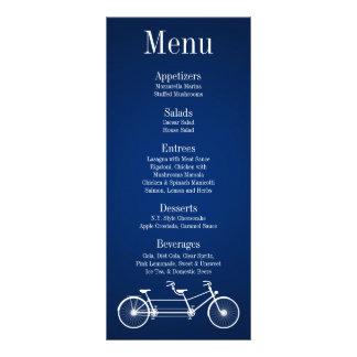 Bici caprichosa del doble de 25 del menú azules ma tarjetas publicitarias