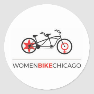 Bici Chicago - pegatinas en tándem de las mujeres Pegatina Redonda