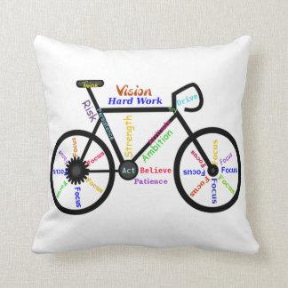 Bici, ciclo, palabras de motivación almohadas