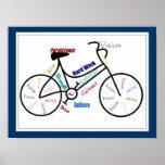 Bici, color del personalizar de la bicicleta, de m poster