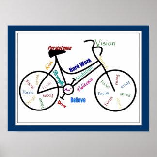 Bici, color del personalizar de la bicicleta, de póster
