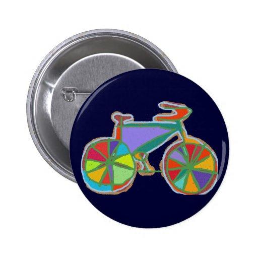 bici colorida hermosa del arte pins