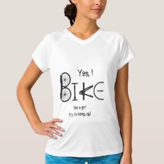 Bici como piezas divertidas del chica de la cita remeras