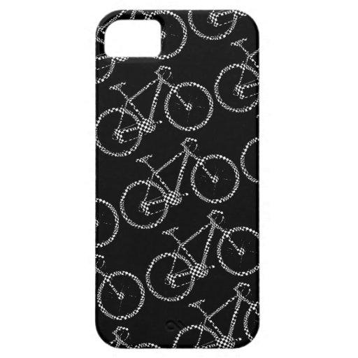 bici comprobada blanco y negro funda para iPhone SE/5/5s