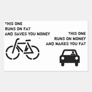 Bici contra el pegatina del coche
