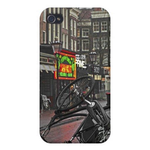 Bici cuadrada de Amsterdam - de Rembrandt iPhone 4/4S Carcasas