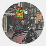 Bici cuadrada de Amsterdam - de Rembrandt Etiquetas Redondas