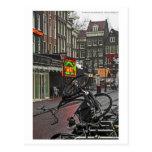 Bici cuadrada de Amsterdam - de Rembrandt Postales