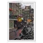 Bici cuadrada de Amsterdam - de Rembrandt Tarjetas