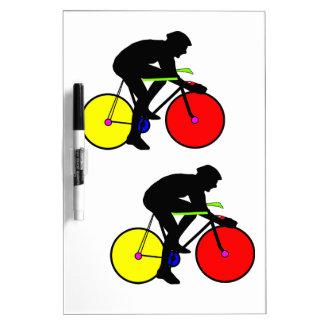 Bici de ciclo coloreada multi tablero blanco