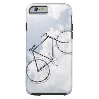 Bici de la bicicleta del vintage en el cielo con funda de iPhone 6 tough