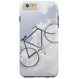 Bici de la bicicleta del vintage en el cielo con funda de iPhone 6 plus tough