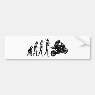 bici de la evolución etiqueta de parachoque
