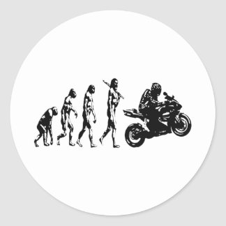 bici de la evolución pegatina redonda