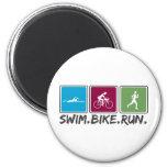 bici de la nadada funcionada con (triathlon) imanes para frigoríficos