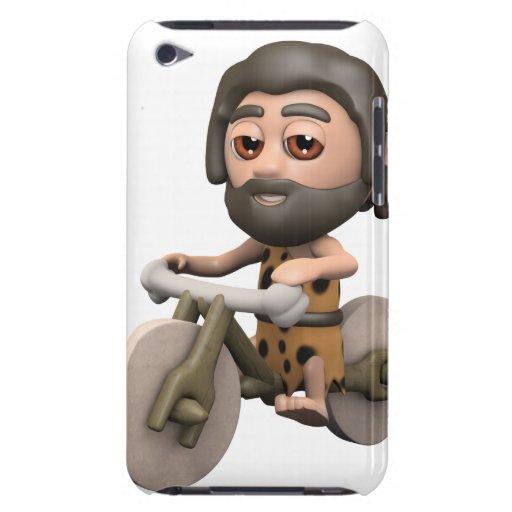 bici de la piedra del hombre de las cavernas 3d Case-Mate iPod touch cárcasas