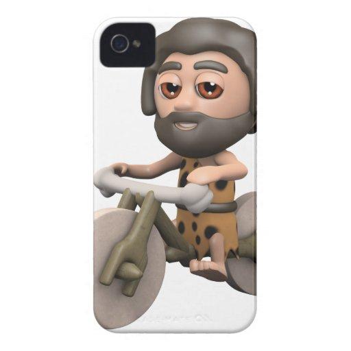 bici de la piedra del hombre de las cavernas 3d iPhone 4 Case-Mate cobertura