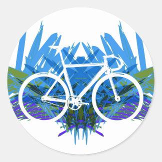 Bici de la pista en azul verde pegatinas