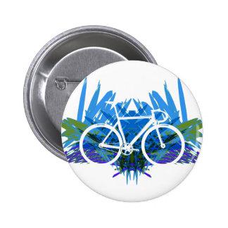 Bici de la pista en azul verde pins