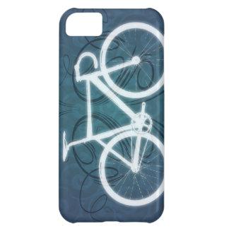 Bici de la pista - estilo azul del tatuaje funda para iPhone 5C