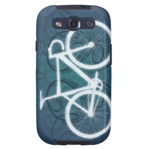 Bici de la pista - estilo azul del tatuaje galaxy SIII coberturas