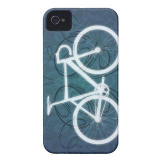 Bici de la pista - estilo azul del tatuaje iPhone 4 carcasas