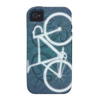 Bici de la pista - estilo azul del tatuaje Case-Mate iPhone 4 carcasa