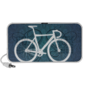 Bici de la pista - estilo azul del tatuaje laptop altavoz
