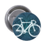 Bici de la pista - estilo azul del tatuaje pins
