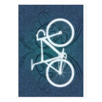 Bici de la pista - estilo azul del tatuaje tarjeta postal