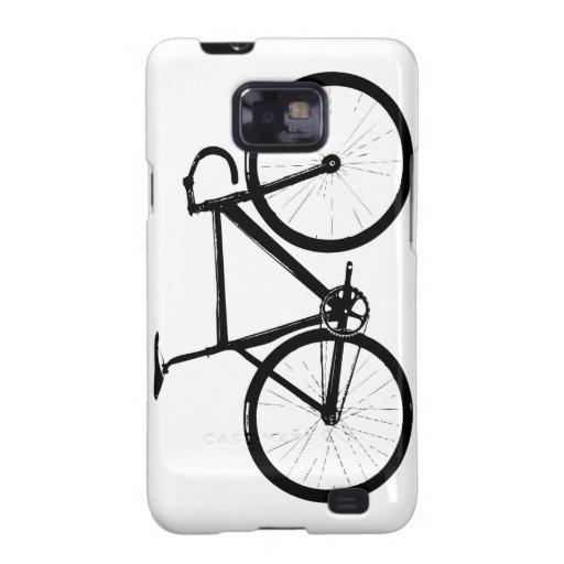 bici de la pista - negro en blanco samsung galaxy SII funda