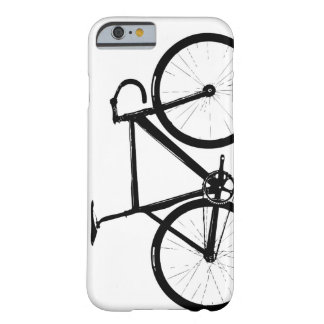 Bici de la pista - negro en blanco funda barely there iPhone 6
