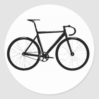 Bici de la pista etiquetas redondas