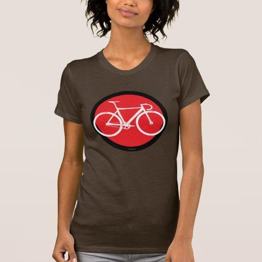 Bici de la pista - punto rojo camisas