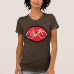 Bici de la pista - punto rojo camisetas