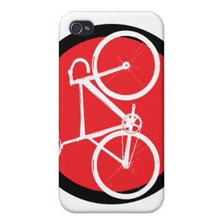Bici de la pista - punto rojo iPhone 4/4S funda