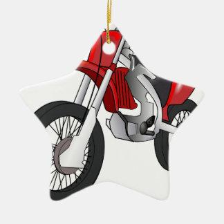 Bici de la suciedad adorno navideño de cerámica en forma de estrella