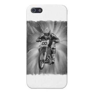 Bici de la suciedad que arruina con negro/blanco iPhone 5 fundas