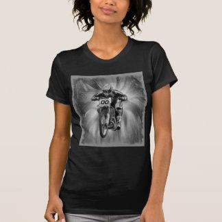 Bici de la suciedad que arruina con negro/blanco camiseta