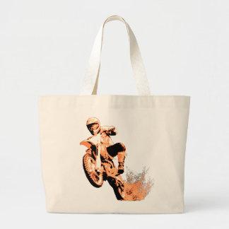 Bici de la suciedad que arruina por (naranja) bolsa tela grande