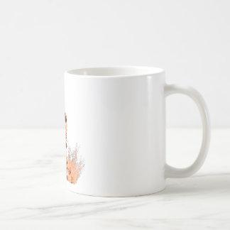 Bici de la suciedad que arruina por (naranja) taza básica blanca