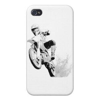 Bici de la suciedad que rueda en el fango iPhone 4 fundas