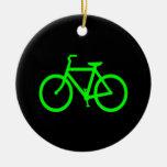 Bici de la verde lima adornos