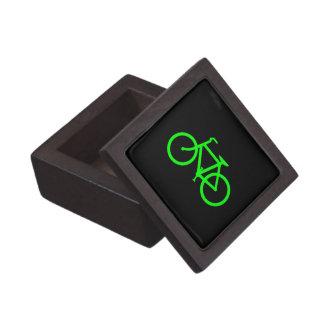 Bici de la verde lima cajas de joyas de calidad