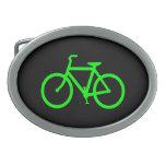 Bici de la verde lima hebilla cinturon oval