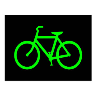 Bici de la verde lima postales